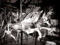 Old Carousel Horse Merry Go Round Amusement Ride Stock Images - 42402184
