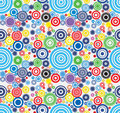 Vector Colorful Abstract Circles Seamless Pattern. Stock Photos - 42408863