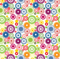 Vector Colorful Abstract Circles Seamless Pattern. Stock Images - 42408864