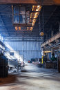 Desolate Crane In An Old Valve Factory Hall Royalty Free Stock Images - 42415739