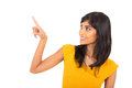 Woman Pointing Finger Royalty Free Stock Image - 42425086