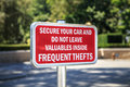 Theft Warning Sign Stock Photography - 42426142