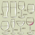 Set Of Different  Glasses, Vector Royalty Free Stock Photo - 42426735