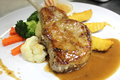 Course Grilled Lamb Steak With Spicy Pepper Sauce Stock Image - 42433551