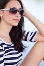 Woman In Shades Stock Photo - 42446630