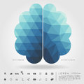 Left And Right Brain On Concept Pattern And Free Form Geometry Stock Photos - 42447873