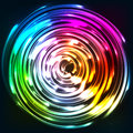 Rainbow Colors Shining Neon Lights Disc Stock Images - 42452494