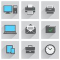 Office Icon Set Royalty Free Stock Images - 42453379