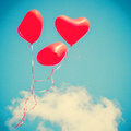 Red Heart-shaped Balloons Royalty Free Stock Photo - 42469795