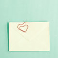 Heart Shaped Clips And Envelope Stock Image - 42473861
