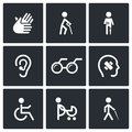 Disability Icons Set Stock Photo - 42488230