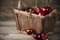 Cherries In Basket Royalty Free Stock Images - 42490569