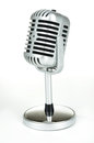 Vintage Silver Microphone  On White Royalty Free Stock Photography - 42510367