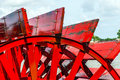 Close-up Of A Red Paddle Wheel Stock Photo - 42522350