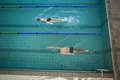Man And Woman Swimming In The Pool Royalty Free Stock Photos - 42540988