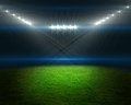 Football Pitch With Bright Lights Stock Photo - 42556280