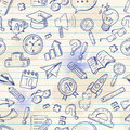 Back To School Seamless Pattern On A Exercise Book Stock Image - 42570531