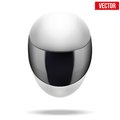 High Quality Light White Motorcycle Helmet Royalty Free Stock Photos - 42572638