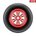 Vector Race Wheel And Tire Symbol Stock Photo - 42573030