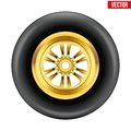 Vector Race Wheel And Tire Symbol Stock Images - 42573064