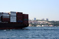Freighter Over Bosphorus Royalty Free Stock Photo - 42590205