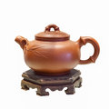 Chinese Purple Sand Teapot Isolated Stock Photos - 42593193