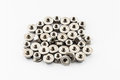Pile Of Stainless Steel Hex Flange Nuts Stock Images - 42610174