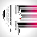 Fashion Lady Make On Bar-code Royalty Free Stock Photos - 42614558