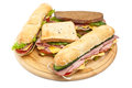 Group Of Various Sandwiches Royalty Free Stock Photography - 42619687