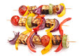 Halloumi And Vegetables Kebabs Royalty Free Stock Photography - 42619737