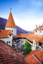 Roofs Of Dracula Castle In Inner Yard, Romania Stock Photography - 42628112