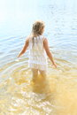 Little Girl In Water Royalty Free Stock Images - 42628729