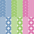 Cute Baby Girl And Boy Pattern Collection Stock Photo - 42629450