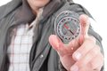 Closeup Of Hand Holding A Compass Royalty Free Stock Photos - 42635598