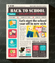 Back To School Sales Promotional Design Template In Newspaper Royalty Free Stock Images - 42636219