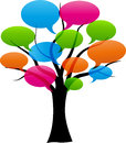 Vector Speech Bubbles On Tree Stock Images - 42638394