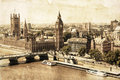 Vintage Style Picture Of Westminster, London Stock Photo - 42647270
