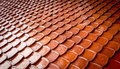 Old Red Tiles Roof Background Royalty Free Stock Image - 42665566