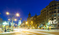 Night View Of Barcelona Royalty Free Stock Image - 42666936