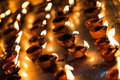Burning Candles In The Indian Temple. Stock Photos - 42672133
