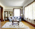 Living Room Interior In Old American House Stock Photo - 42687620