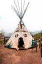 Tipi At Manitou Cliff Dwellings Museum Royalty Free Stock Images - 42693939