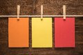 Colorful Notes Paper And Clothes Pegs Royalty Free Stock Photo - 42698395
