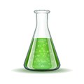Chemical Laboratory Transparent Flask With Green Royalty Free Stock Photography - 42699807