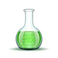 Chemical Laboratory Transparent Flask With Green Royalty Free Stock Image - 42699846