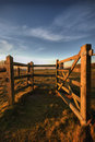 Gate On The South Downs Royalty Free Stock Photo - 4278305