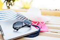 Close Up Of Laptop On Beach Royalty Free Stock Image - 42709896