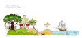 Holliday In Tropical Island, Concept Background Royalty Free Stock Photo - 42710105