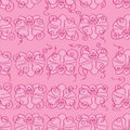 Pink Seamless Background With Pink Orchids Royalty Free Stock Photography - 42713477