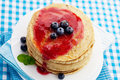 Pancakes With Jam Stock Photography - 42723822